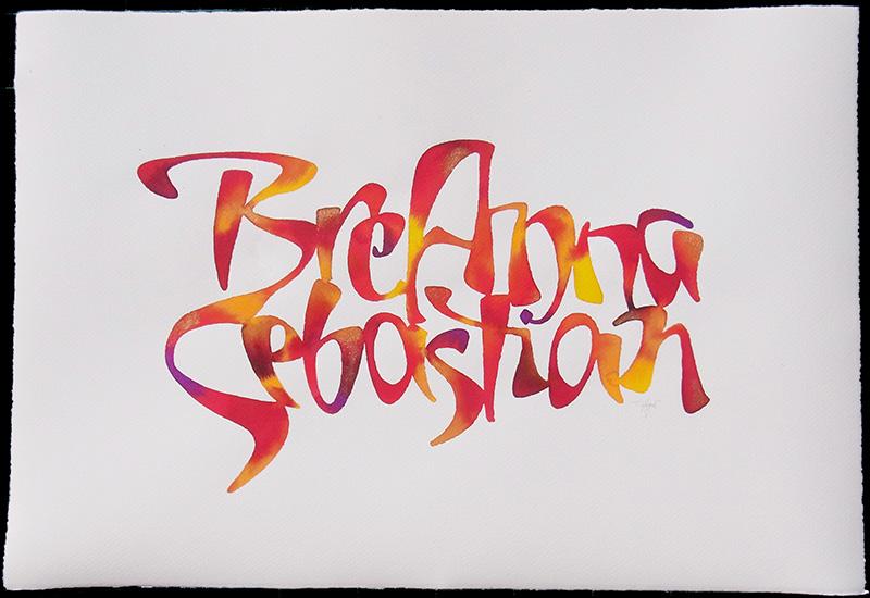 Kalligraphische Hochzeitsgeschenke Kalligraphie Hoyer