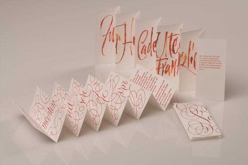 Einzigartige Hochzeitspapeterie - Kalligraphie Hoyer