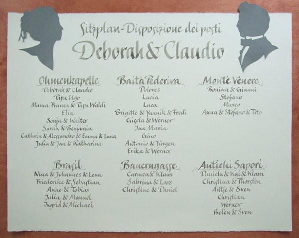 Einzigartige Hochzeitspapeterie  Kalligraphie Hoyer